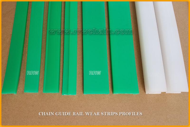 Belt Chain Guide Wear Strip Profiles UHMWPE Tracks Rail Curves - RRW
