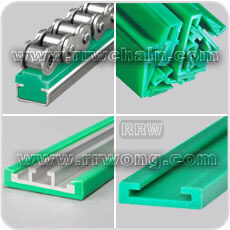 Plastic Chain Track Profiles Roller Chain UHMW PE Wear Strip Slat