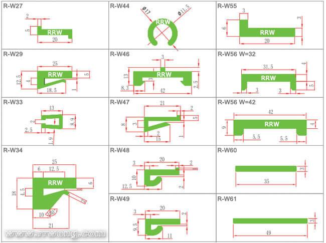 Uhmw Pe J Profile Wear Strip L Profiles Belt Chain Guides
