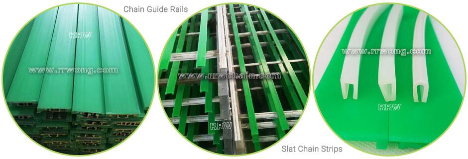 Chain Belt Wear Strip U Profiles PE UHMW Rail Covers Bar Metal